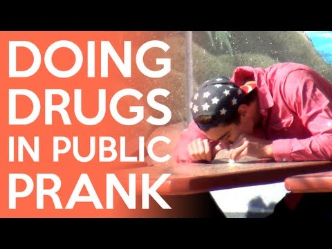 Doing Drugs In Public Prank